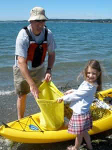 Maggie, Dad & Kayak