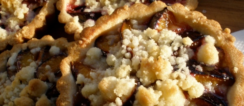 Ginger Scented Plum Crumb Tart.  The recipe follows.